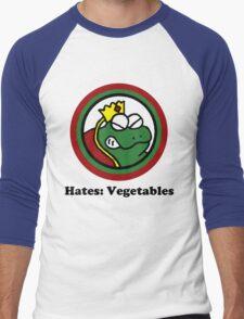 Hates: Vegetables Men's Baseball ¾ T-Shirt