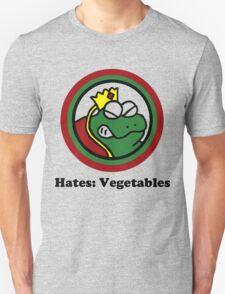 Hates: Vegetables Unisex T-Shirt
