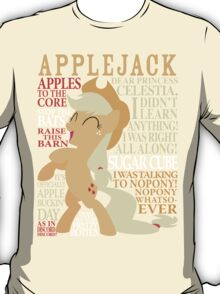 The Many Words of Applejack T-Shirt