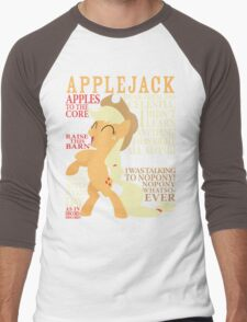 The Many Words of Applejack Men's Baseball ¾ T-Shirt