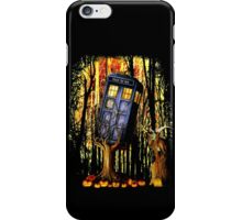 Haunted Blue Phone Box captured By witch iPhone Case/Skin
