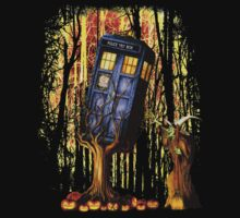 Haunted Blue Phone Box captured By witch Baby Tee