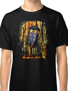 Haunted Blue Phone Box captured By witch Classic T-Shirt
