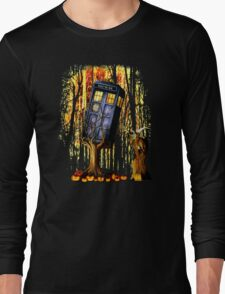 Haunted Blue Phone Box captured By witch Long Sleeve T-Shirt