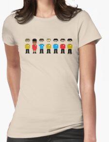 8-Bit Star Trek Womens Fitted T-Shirt