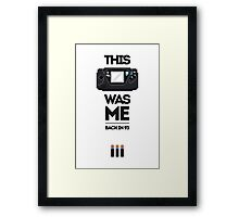 This Was Me: Game Gear Framed Print