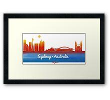 iconic Sydney Australia Framed Print
