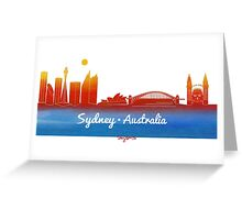 iconic Sydney Australia Greeting Card