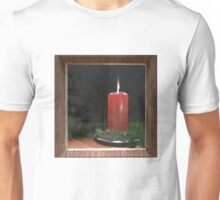 Christmas Candle in the Window Unisex T-Shirt