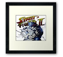Street Fighter 2 - Ryu Hudouken Framed Print