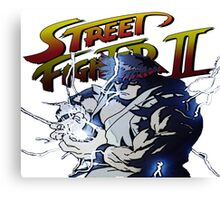 Street Fighter 2 - Ryu Hudouken Canvas Print