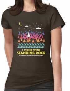 Stand With Standing Rock Shirt Womens Fitted T-Shirt