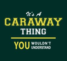 It's A CARAWAY thing, you wouldn't understand !! by satro