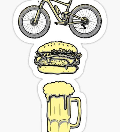 Bike, Burger & Beer Sticker