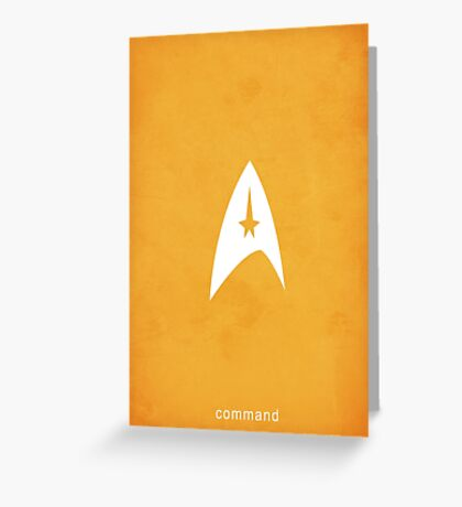Star Trek - Command Emblem Greeting Card