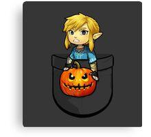 The Legend of Zelda Link Halloween Pumpkin Canvas Print