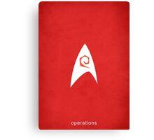 Star Trek - Operations Emblem Canvas Print