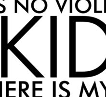 There is No Violence in Aikido (Black) Sticker