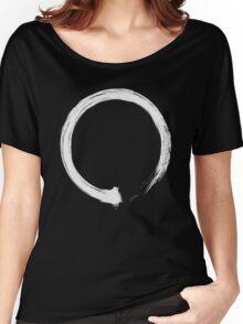 Zen Enso White Women's Relaxed Fit T-Shirt