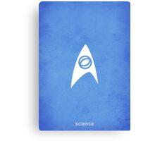 Star Trek - Science Emblem Canvas Print