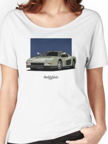 Ferrari Testarossa (silver) Women's Relaxed Fit T-Shirt