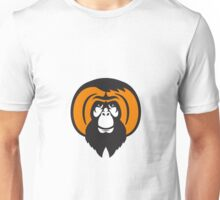Orangutan Bearded Tussled Hair Retro Unisex T-Shirt