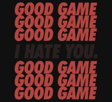 Browns Good Game I Hate You One Piece - Short Sleeve