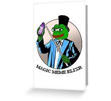 Pepe Frog Meme Magic Elixir Greeting Card
