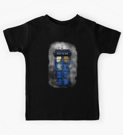 Haunted blue phone booth Kids Tee