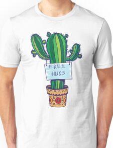 Free Hugs - Cactus Unisex T-Shirt