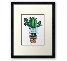 Free Hugs - Cactus Framed Print