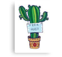 Free Hugs - Cactus Canvas Print