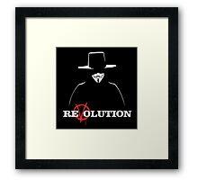 V for Vendetta Revolution Framed Print