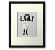 Lion Girl Framed Print