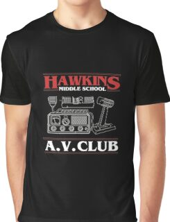 Hawkins A.V. Club Funny T-Shirt Stranger of Things Graphic T-Shirt