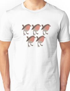 five red breasts Unisex T-Shirt