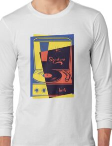 Vintage Turntable Stereo Long Sleeve T-Shirt