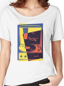 Vintage Turntable Stereo Women's Relaxed Fit T-Shirt