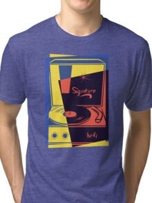 Vintage Turntable Stereo Tri-blend T-Shirt