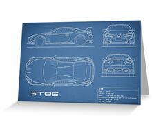 The GT86 Blueprint Greeting Card