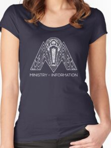 Ministry of Information Women's Fitted Scoop T-Shirt