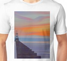 Crosby Pier (Digital Art) Unisex T-Shirt