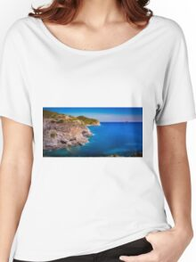Coastal cliffs and the island Women's Relaxed Fit T-Shirt