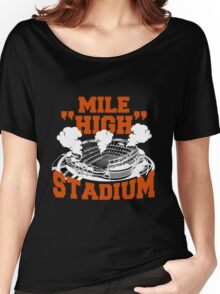 Mile high stadium . Women's Relaxed Fit T-Shirt