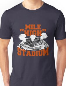 Mile high stadium . Unisex T-Shirt