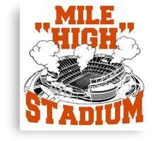 Mile high stadium . Canvas Print