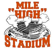 Mile high stadium . Photographic Print