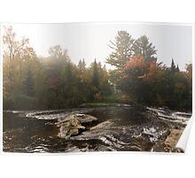 Autumn Riverbank Fog -  Poster