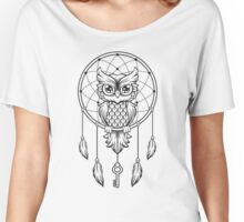 Wise Owl on a dream catcher Women's Relaxed Fit T-Shirt