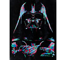 Neon Vader Photographic Print